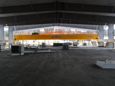 Top-Running Double Box Girder with Walkway